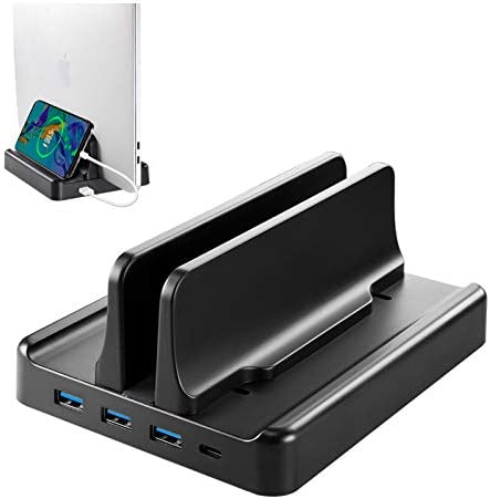 VAYDEER Vertical Laptop Stand 22 5 W Fast Charging 3xUSB 3 0 Ports with HUB Function Notebook product image