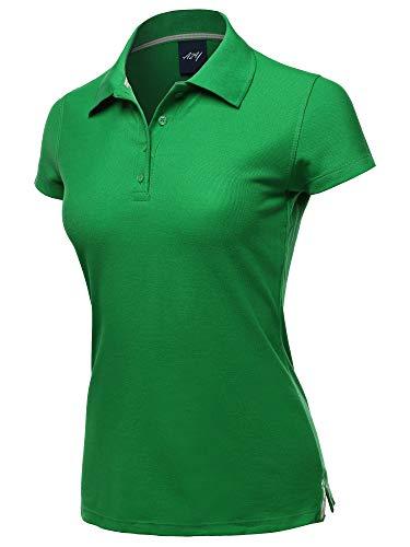 Casual 4-Button Junior-Fit PK Ring Spun Cotton Pique Polo Shirt Kelly Green M
