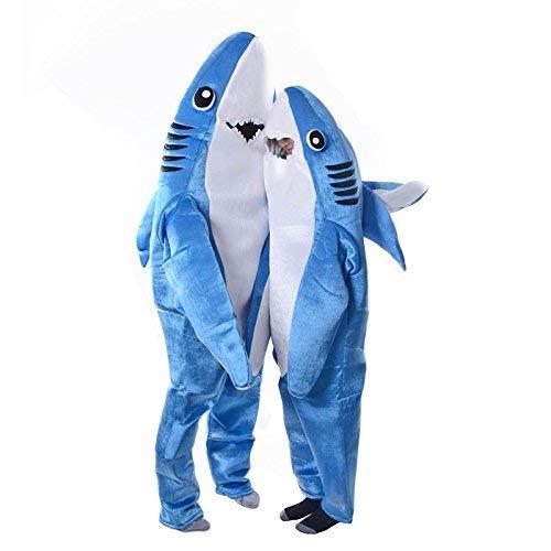 Dastrues Moderno Adulto Infantil Mono Cosplay Traje Tiburón Stage Ropa Disfraz de Halloween Navidad Props - Adulto, Large