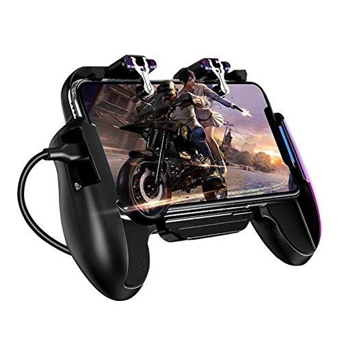 YIN YIN- Juegos móviles Gamepad refrigerador Ventilador de refrigeración con Cuatro Dedos Vinculación Gamepad Joystick Metal detonante de Fuego PUBG Juego for móvil,Control de Juego (Color : B