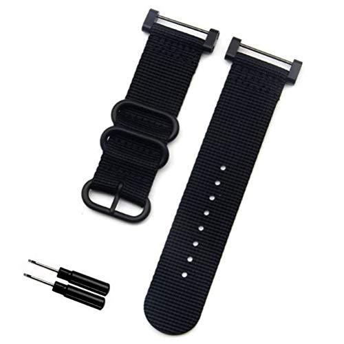 SHANGRI-LA SUUNTO CORE 交換用 ナイロン製 ベルト バンド 工具付き 保証書同梱 腕時計 高度計 バンド ストラップ スント コア (ブラック)