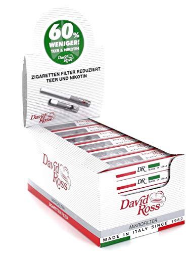 David Ross Regular Zigarettenfilteraufsatz 8mm 36 Schachteln a 10 Filteraufsätze, weiß, S