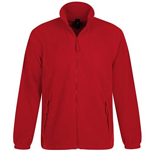Sols Herren Outdoor Fleece Jacke North (Large) (Rot)