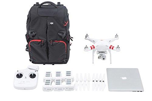 DJI Rucksack Backpack für Phantom 1, Phantom 2 and Phantom 3 Serie UAV Aerial Quadrocopter Drohne - Schwarz