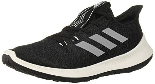 adidas Women's SenseBOUNCE + Running Shoe, Black/White/Carbon, 6.5 M US