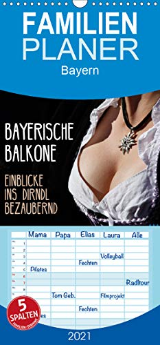 Bayerische Balkone, Einblicke ins Dirndl - bezaubernd - Familienplaner hoch (Wandkalender 2021, 21 cm x 45 cm, hoch)