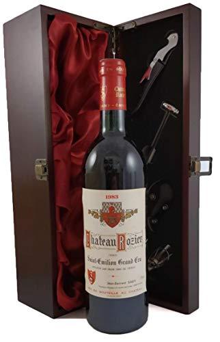Chateau Rozier 1983 St Emilion Grand Cru in einer mit Seide ausgestatetten Geschenkbox, da zu 4 Weinaccessoires, 1 x 750ml