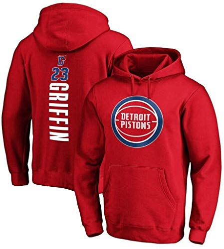 Sudadera con Capucha de Sudadera con Capucha con Capucha para Hombre New York Knicks # 23 Blake Griffin Manga Larga Sudadera Suéter Deportivo Jóvenes Casual Suéter con Capucha (Size : Large)