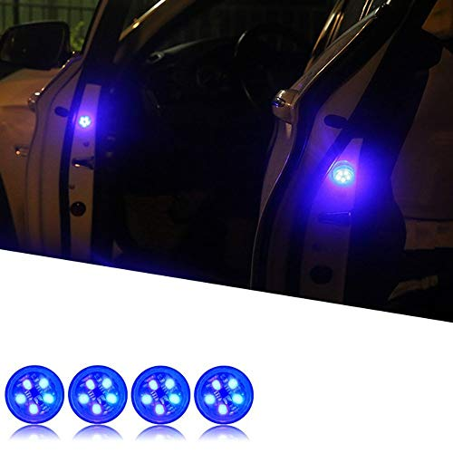 Luci di Avvertimento per Portiera Auto, Orbeor 5 Led Luci di Sicurezza Aperte con Strobo rosso lampeggiante Magnetico Impermeabile senza fili Luci di Avvertimento di Sicurezza Anti-collisione