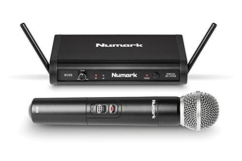 Numark WS100Diversity inalámbrico Micrófono Sistema con dos pilas AA