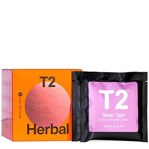 T2 Tea Sips - Herbal Tea Sampler Gift Pack, 10 Loose Leaf Sachets, 41 g