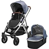 2018 UPPAbaby VISTA Stroller, Henry (Blue Marl/Silver/Saddle Leather)