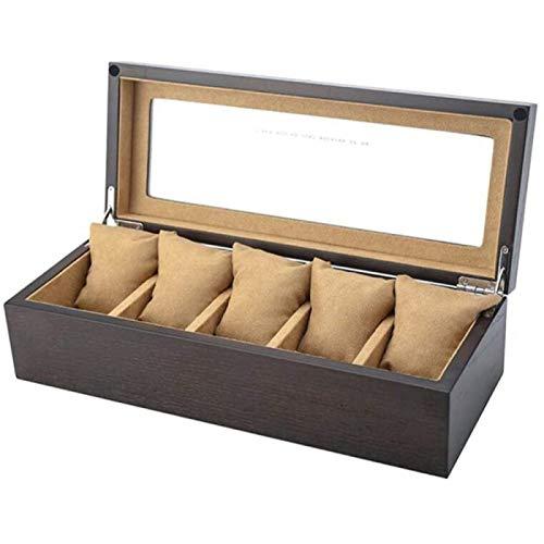 Caja De Almacenamiento De Reloj De Madera Pulsera Simple Vitrina De Joyería Caja De Colección De Relojes
