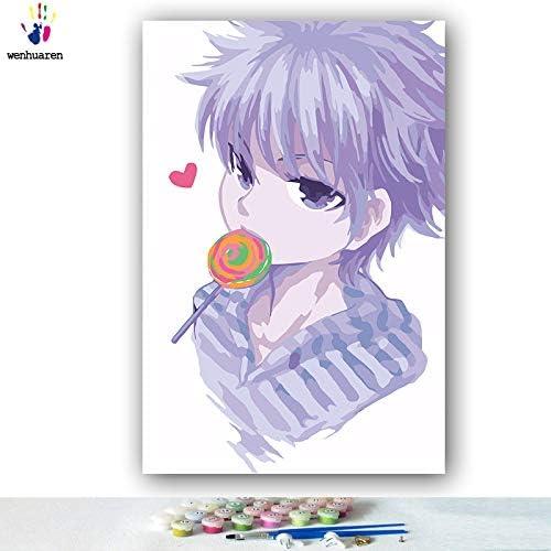al precio mas bajo KYKDY Dibujos para Colorar Colorar Colorar de DIY por números con Colors Cazador a tiempo completo Dibujo de manga en japonés pintura por números enmarcados, 0380,70x90 sin marco  para mayoristas