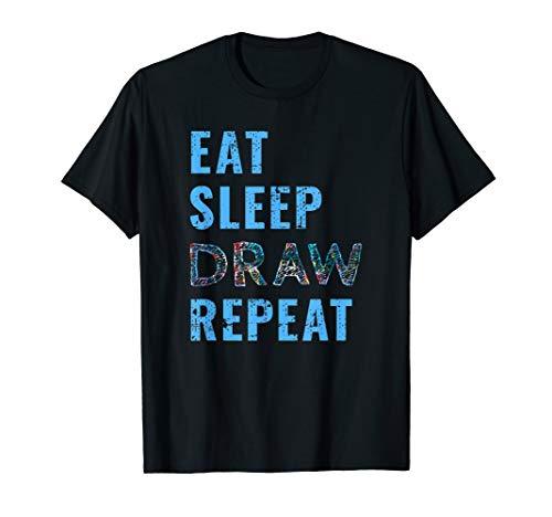 Artist Eat Sleep Draw Repeat Art Drawing Gift T-Shirt