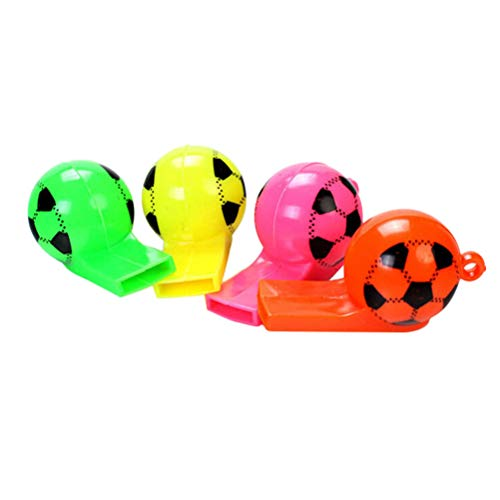 Buy STOBOK Kids Colorful Whistles Plastic Football Whistles for Birthday Sports Outdoor Activity (Ra...