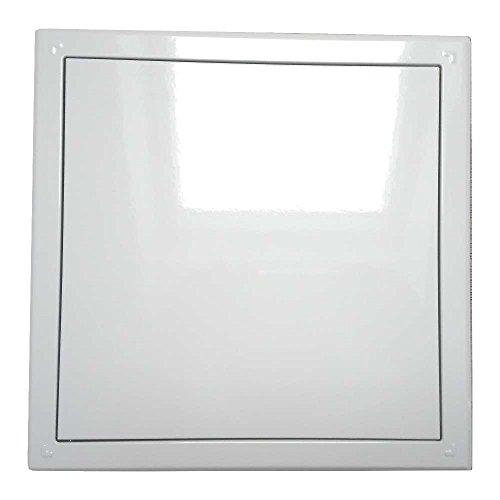 Wäscheschachtklappe \ Wäscheabwurfschacht Klappe \ Tür mit Druckverschluss in weiß (30 x 30 cm)