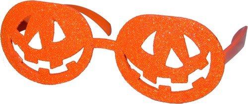 Generique - Lunettes Orange Citrouille Adulte Halloween