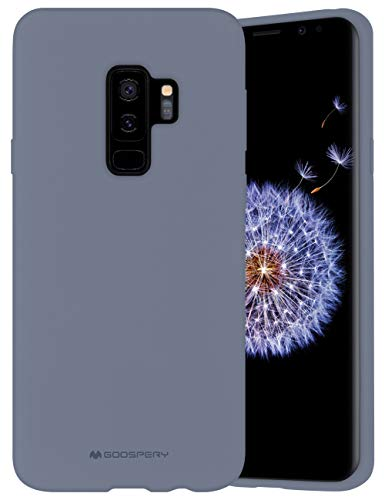 Goospery Liquid Silicone Case for Samsung Galaxy S9 Plus (2018) Jelly Rubber Bumper Case with Soft Microfiber Lining (Lavender Gray) S9P-SLC-LGRY