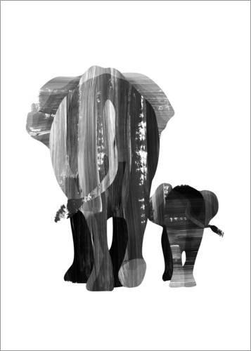 Poster 30 x 40 cm: Zusammen gehen von Goed Blauw - hochwertiger Kunstdruck, neues Kunstposter