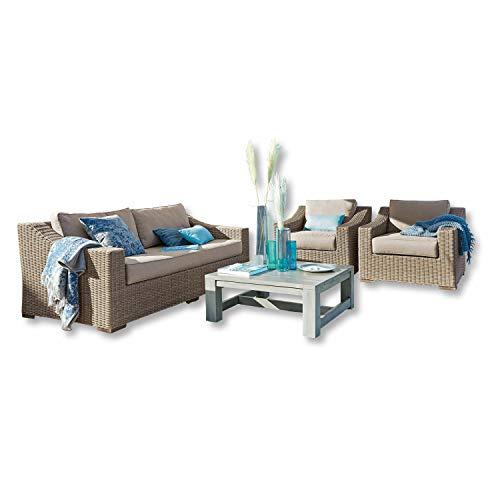 Loberon Sitzgruppe Chestingdale, Aluminium, Outdoor, Garten, braun