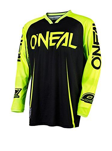 O'Neal Mayhem Lite Jersey Blocker Schwarz Neongelb MX MTB DH Trikot Motocross Offroad, 0030A-20, Größe L