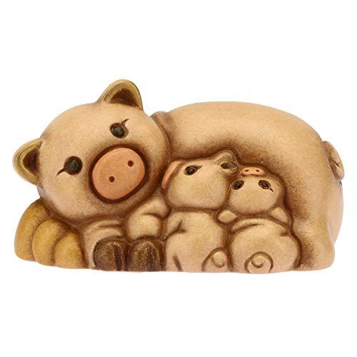 THUN - Gruppo Maialini con Cuccioli - Presepe Classico - Ceramica - 6,8x4,3x3,5 cm