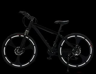 3M 20Pcs Bicycle Decals Reflective Warning Stick Cycling Cool Tape Sticky Note Safety Anti-Collision Fashion - Square/Bicycle Hub (Fluorescent White)