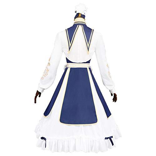 EQWR 2019 Hot Game Miracle Nikki Traum vom Frühling Lolita Kleid Daily Colth Cosplay Kostüm Halloween/Weihnachten Kleid + Perücke + Schuhe M Anzug