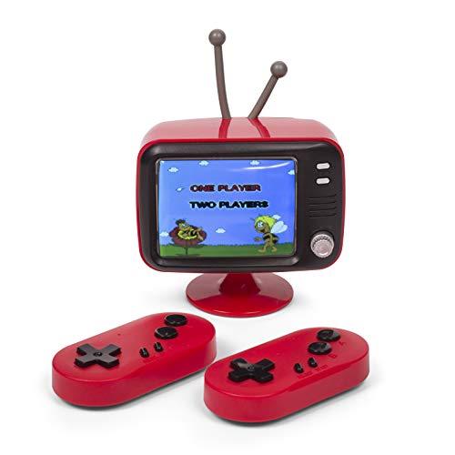 Thumbs Up ORB - Retro Konsole Mini TV (rot) mit 2 Funk-Controller - inkl. 300x 8-Bit Spielen