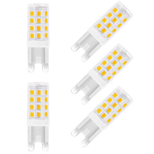 LOHAS® 5W G9 Lot de 5 Ampoule LED, 40W Ampoule Halogène Équivalent, 240V AC 400lm,Blanc Chaud, 3000K, 360° Larges Faisceaux, Ampoule LED G9, Culot G9 [Classe énergétique A+]