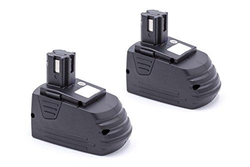 vhbw 2 x NiMH Akku 3000mAh (12V) für Elektro Werkzeug Hilti SB12, SF120-A, SF121-A, SID 121-A, SFL 12/15 Flashlight wie Hilti SFB121, SFB126, SFB126A