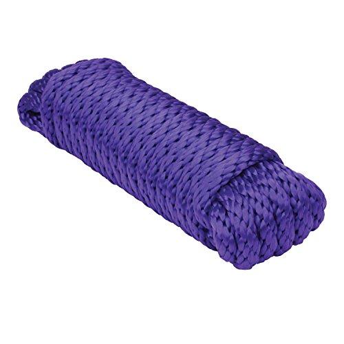 Extreme Max 3008.0262 Purple 5/8' x 25' Solid Braid MFP Utility Rope