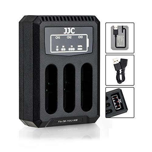 Cargador USB para Ricoh DB-110 Olympus LI-90B, compatible con Ricoh GR III WG-6 y Olympus Tough TG-6 TG-5 TG-4 TG-3 TG-2 TG-1 Stylus X-Z2 iHS SP-100