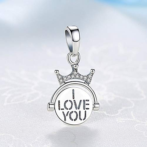 Elegant Two-Sided Beaded Open Heart Charm Pendant Necklace in Sterling Silver 0.9