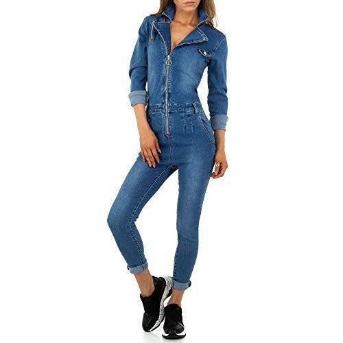 Ital-Design Damen Jeans Jumpsuit Overall M.Sara Denim Gr. L Blau