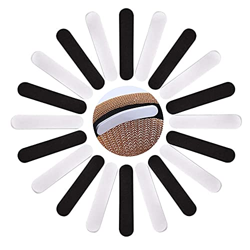 Hat Size Reducer Selbstklebender Streifen für Hat Cap Size Reducer Tape Hat Adjuster Pads Hut Schweißschutzbänder Liner Baseball Cap Peaked Cap Sonnenhelm 11 * 2 * 0,5 cm Schwarz und Weiß 24 Stück