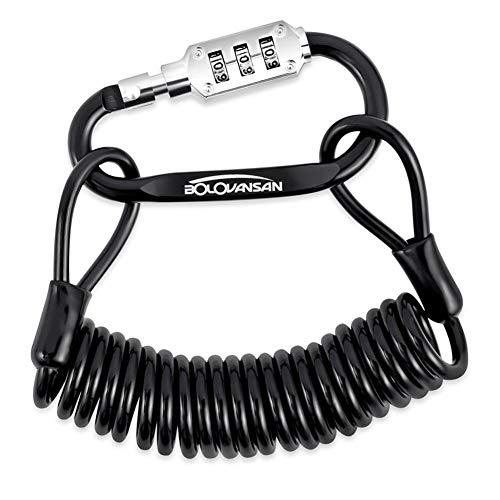 Chen0-super Motorradhelmschloss, Diebstahlschutz, Kombinationsschloss Kabelschloss Sicherheitsverriegelung Karabinerhaken für Motorrad Fahrrad Roller Mountainbike Helm