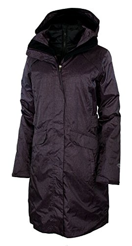 Columbia Timber Pointe Women's Printed Long Omni Heat Interchange Waterproof Jacket Parka (S, Dusty Purple Printed)