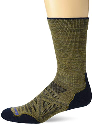 Smartwool PhD Outdoor Light Crew Socks - Men's Wool Performance Sock DESERT SAND L