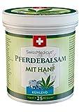 SwissMedicus Pferdebalsam - Bálsamo de caballo con cannabis – efecto frío - crema de masaje para músculos y ligamentos - ideal para deportistas - extractos de plantas naturales - uso diario -500 ml