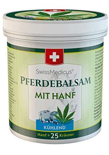 Imagen del productoSwissMedicus Pferdebalsam - Bálsamo de caballo con cannabis – efecto frío - crema de masaje para músculos y ligamentos - ideal para deportistas - extractos de plantas naturales - uso diario -500 ml