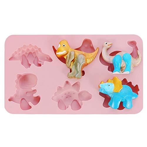 Moldes Silicona Molde con Forma de dinosaurios Antiadherente de Horneado para pastel...