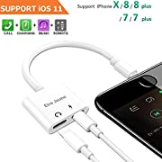 Headphone Adapter & Splitter, Headphone Jack Audio & Charge Connector Splitter Calling/Charger/Music/Remote Control for iP7/7 plus/8/8 plus/X/XS/XR/XS/MAX
