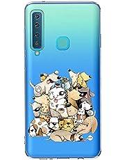 Oihxse Case Transparente Suave TPU Compatible con Samsung Galaxy J5 Prime/ON5 2016 Funda [Lindo Caricatura Flor Serie Dibujos] Cristal Protector Carcasa Anti Rasguños Bumper Cover-Perro