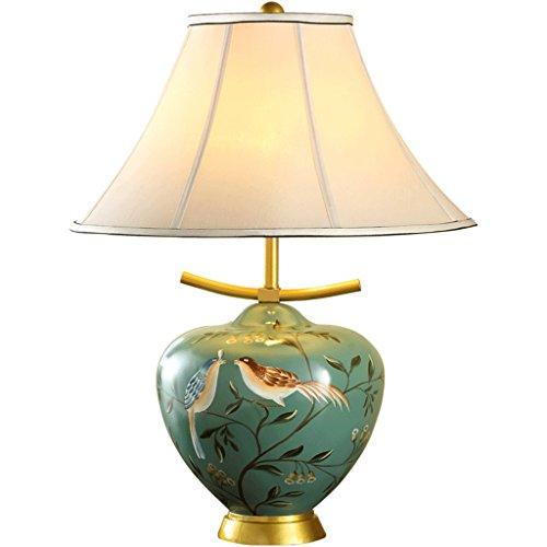 Lámparas de Escritorio Lámparas de Mesa y Mesilla Lámparas de mesa de cerámica chinas, sala de estar de la cabecera del dormitorio, motivos pintados a mano, lujo moderno, color verde Iluminación de in