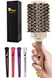 Fagaci Large Round Brush for Blow Drying with Natural Boar Bristle, Professional Round Hair Brush...