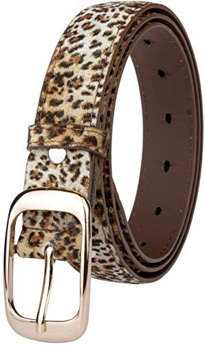 Riemen Women Waist Belt Women's Leer van de Riem Casual Belt Fine Decorative Simple Pin Buckle Belt Pure lederen riem geschikt for alle seizoenen en plaatsen (Kleur: Blauw) (Color : Leopard)