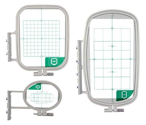 Ultima 3 Piece Embroidery Hoop Set for Brother, Brother Simplicity & Innovis Embroidery Sewing Machines