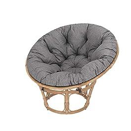 Coussin de jardin, coussin fauteuil cocon, coussin fauteuil rotin, fauteuil jardin , coussin fauteuil suspendu – Gris…